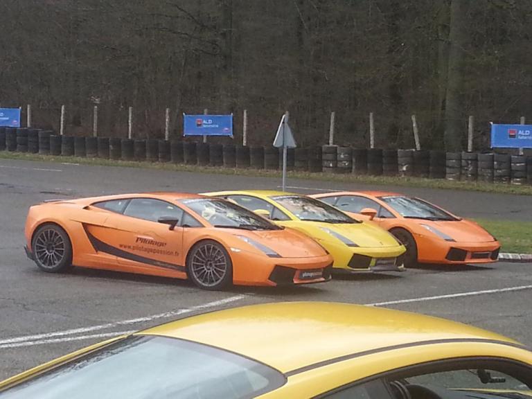 Trio de Lamborghini Gallardo au Circuit JP Beltoise à Trappes