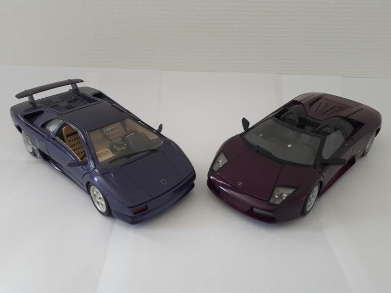 Duo purple: Diablo / Murcielago Roadster 1/18