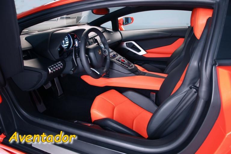 L'intérieur de l'Aventador
