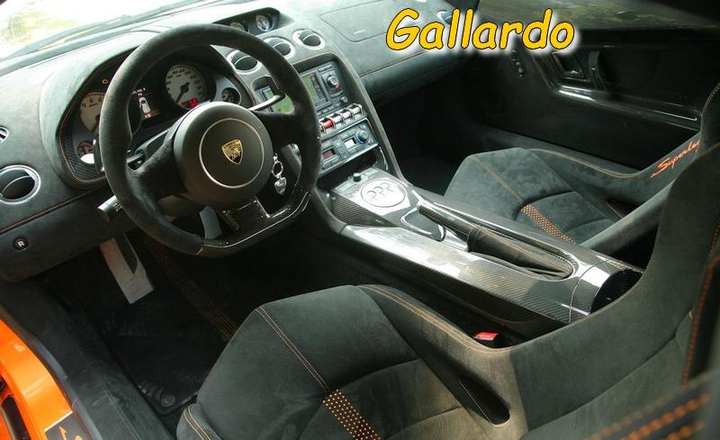 L'intérieur d'une Gallardo Superleggera