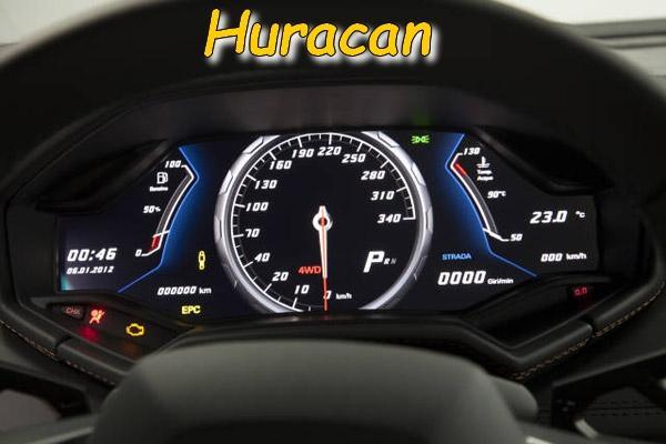 Le compteur de l'Huracan