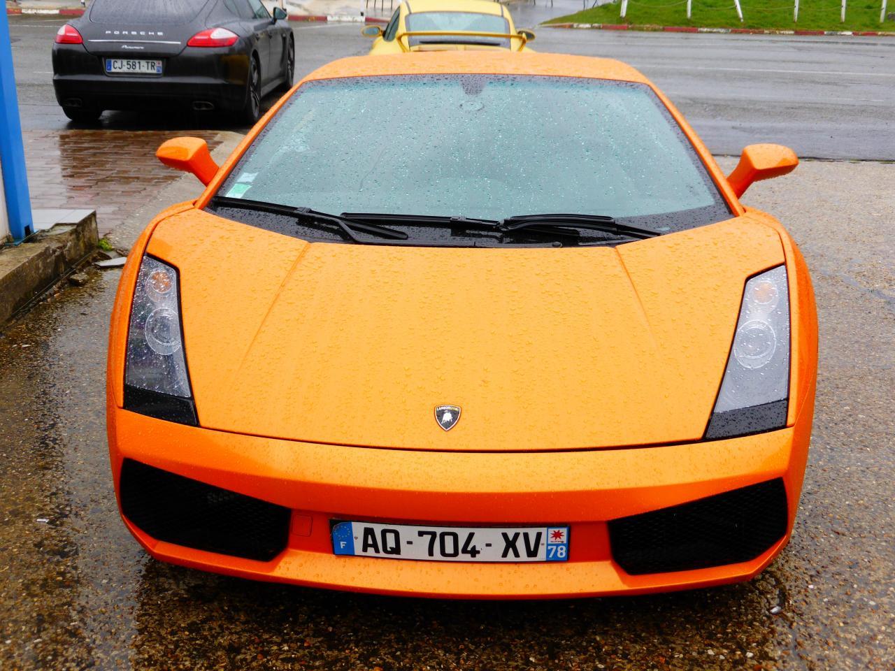 Lamborghini Gallardo orange au circuit Beltoise à Trappes (2)