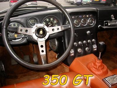 L'intérieur de la 350 GT
