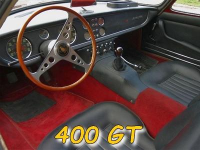 L'intérieur de la 400 GT
